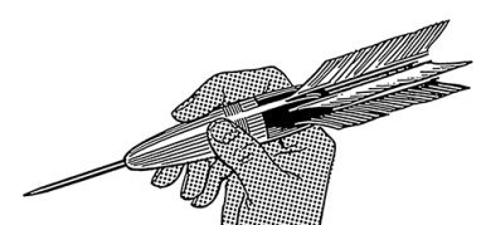 dart symbolizing critical comments