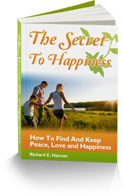 The cover of Psychotherapist Richard Hamon's e-book on the Secret to Happiness