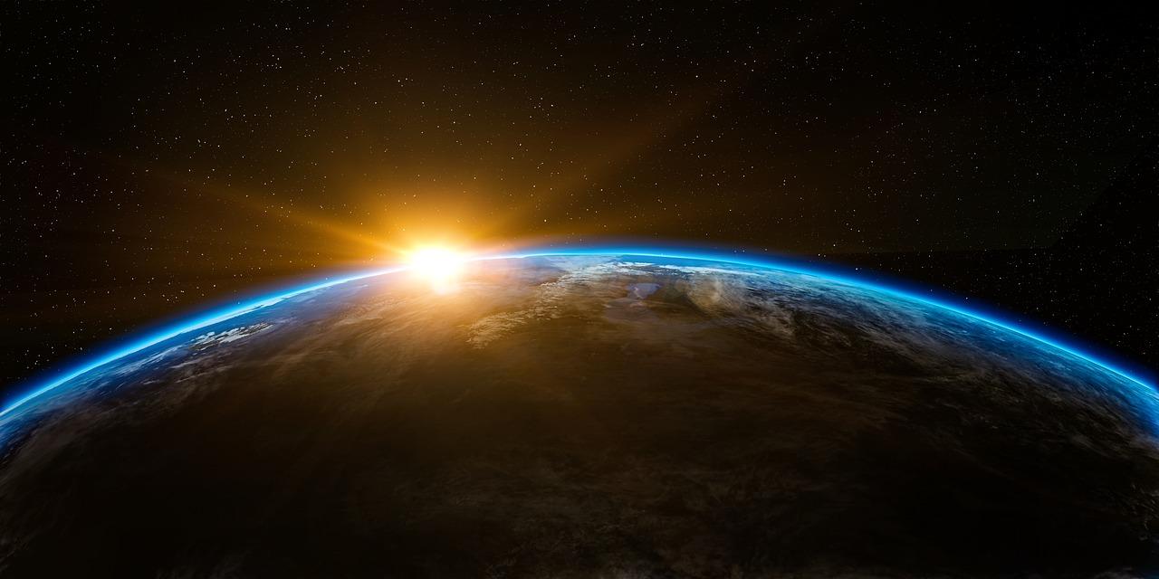 Planet earth at sunrise